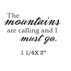 CHF333C Mountains Calling Rubber Stamp
