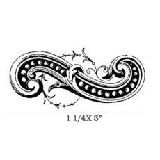 CSE419C Dotted Scroll Rubber Stamp
