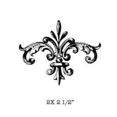 CSE422D Crowned Flurish Rubber Stamp