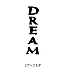 CWP113B Dream Rubber Stamp
