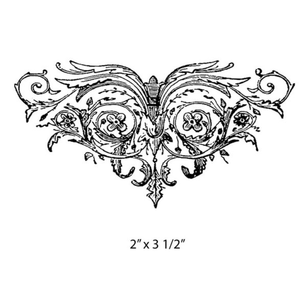 CWP210D Ornate Wing Rubber Stamp