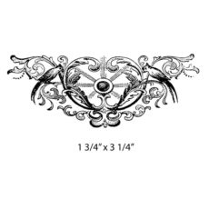 CWP211D Decorative Wing Rubber Stamp