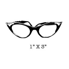 LF209C Glasses Rubber Stamp