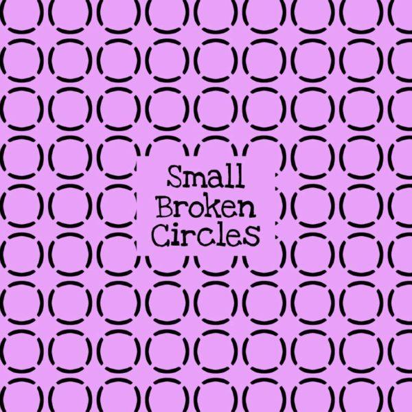 Small Broken Circles Stencil