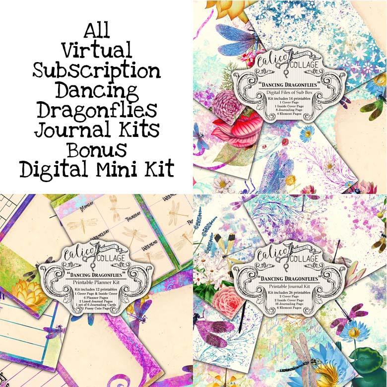 Virtual Subscription Dancing Dragonflies Journal Kit