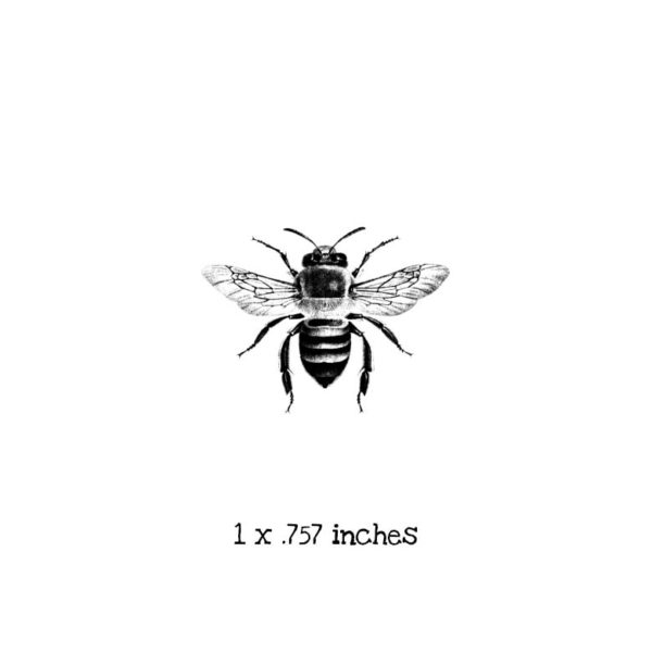 BD107B Bee 1 Rubber Stamp