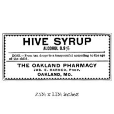 BD108D Hive Syrup Rubber Stamp