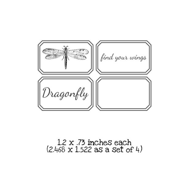 BD201D Find Your Wings QT Rubber Stamps