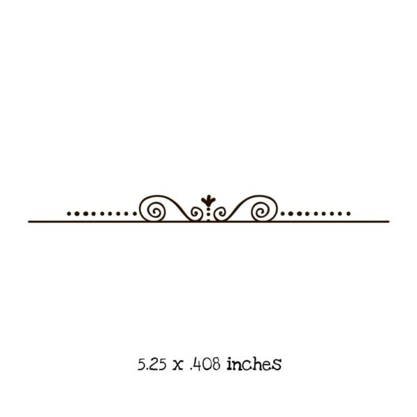 CB101E Curly Dotted Border Rubber Stamp