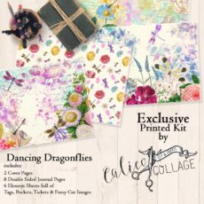 Exclusive Dancing Dragonflies Printed Journal Kit