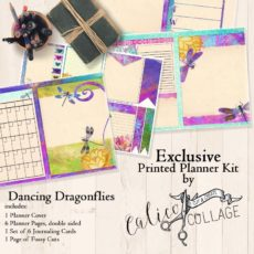 Dancing Dragonflies Printed Planner Kit