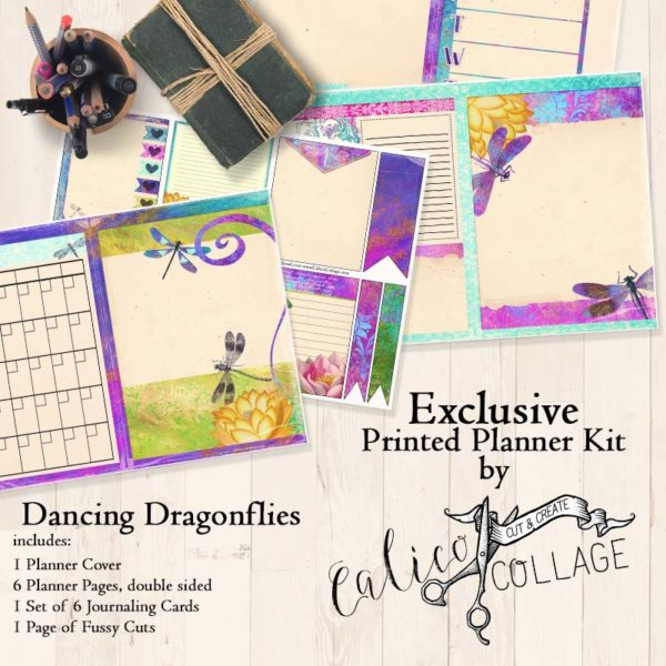 Dancing Dragonflies Printed Planner Kit