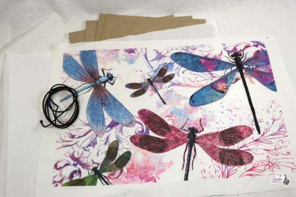 Dancing Dragonflies Fabric for Midori Style Cover