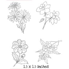 FD101G Dainty Flower Cube Rubber Stamps