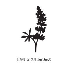 FD115D Texas Bluebell Silhouette Rubber Stamp