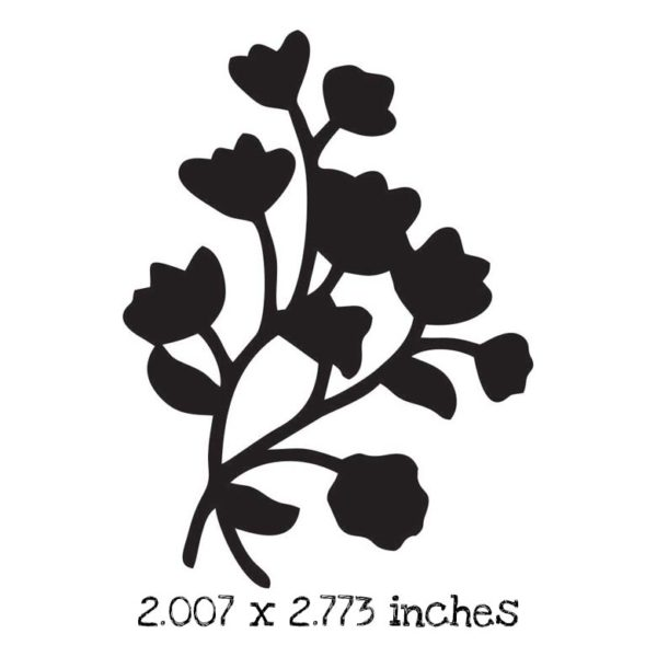 FD116D Flower Bunch Silhouette Rubber Stamp