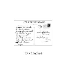 PC101B Tiny Postcard Rubber Stamp