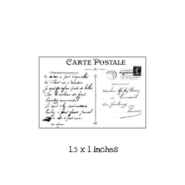 PC101B Tiny Postcard Rubber Stamp