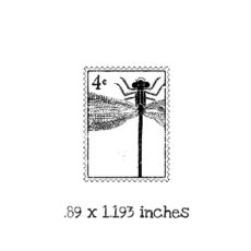 PC105B Dragonfly Postage Rubber Stamp