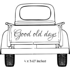 TP101G Good Old Days Truck Rubber Stamps