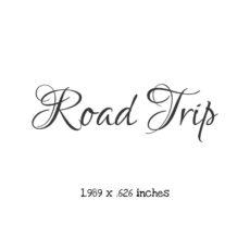 TP401B Road Trip Cursive Rubber Stamp