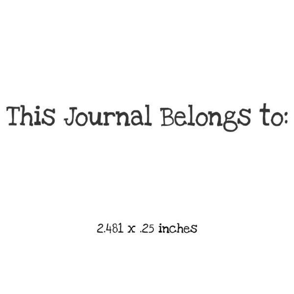 WB103A This Journal Belongs to Rubber Stamp