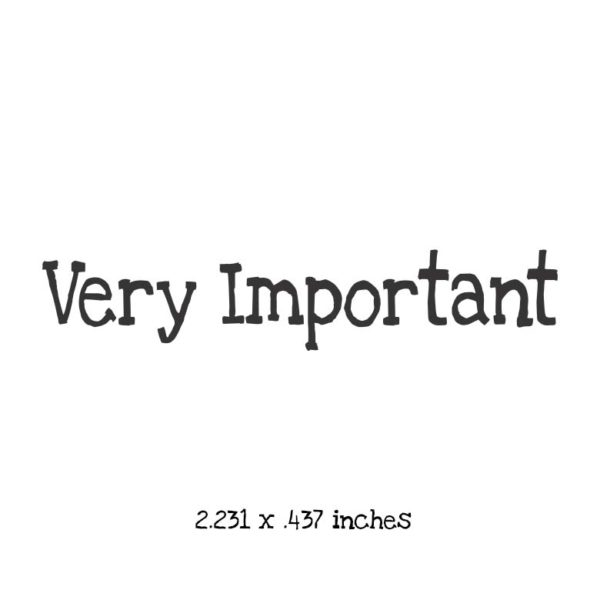 WB105A Very Important Rubber Stamp