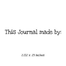 WB106A This Journal made by Rubber Stamp