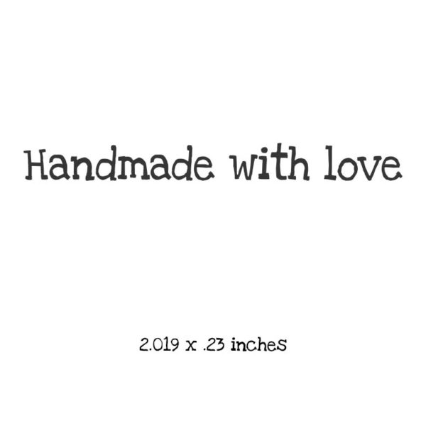 WB107A Handmade with love Rubber Stamp