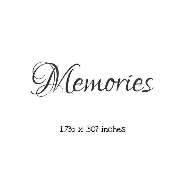 WB108B Memories Cursive Rubber Stamp