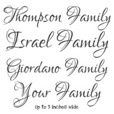 WF201C Your Family Name Custom Rubber Stamp