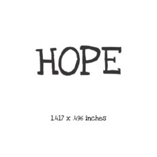 WH105A Hope Rubber Stamp