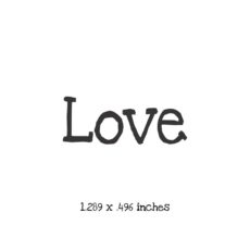 WH108A Love Rubber Stamp