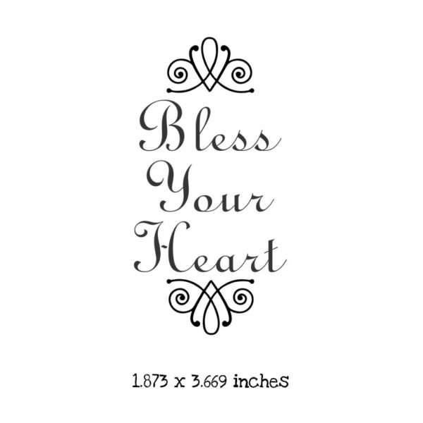 WH110D Bless Your Heart Rubber Stamp