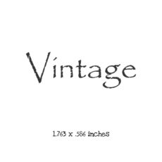 WH118B Vintage 2 Rubber Stamp