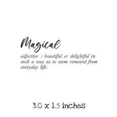 WH119C Magical Defined Rubber Stamp