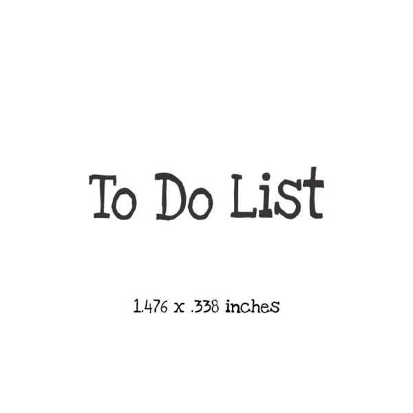 WT104A To Do List Rubber Stamp
