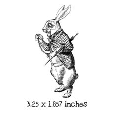 AW107D White Rabbit Rubber Stamp