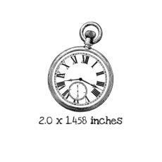 AW115C Pocket Watch Rubber Stamp