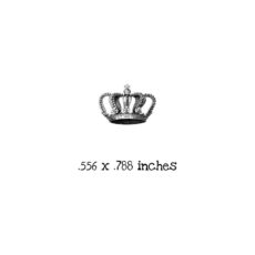AW116B Crown with Pearls Rubber Stamp