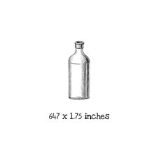 AW117B Small Bottle Rubber Stamp