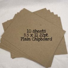 10 Sheets 8.5 x 11 22pt Plain Chipboard