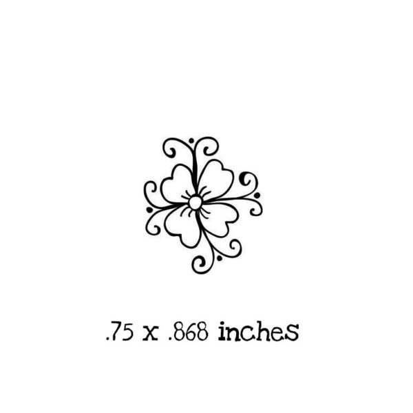 FD117A Tiny Cosmos Rubber Stamp