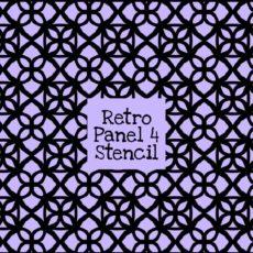 Retro Panel 4 Stencil
