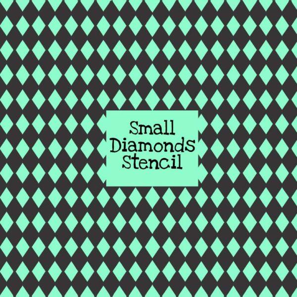 Small Diamonds Stencil