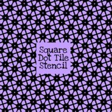Square Dot Tile Stencil