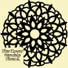 Starflower Mandala Stencil