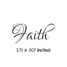 WH126A Faith Rubber Stamp