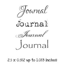 WH132E Journal QT 2 Rubber Stamps