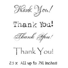 WH133E Thank You QT Rubber Stamps